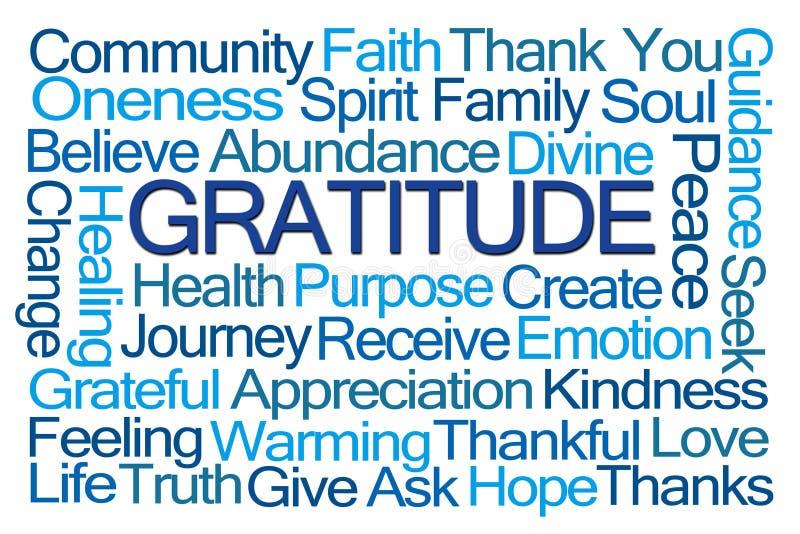 Nuvem da palavra da gratitude ilustração royalty free