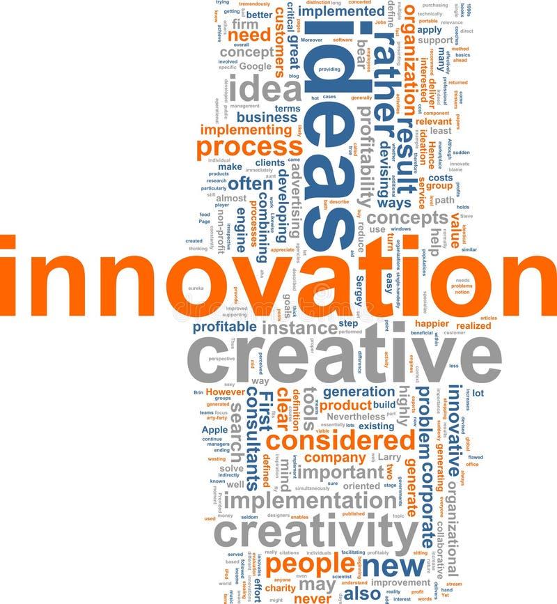 Nuvem da palavra da inovação ilustração royalty free