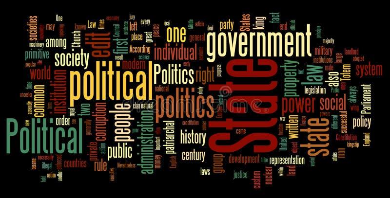 Nuvem da palavra da política ilustração do vetor