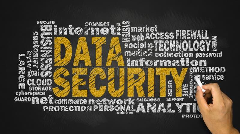 Nuvem da palavra da segurança de dados fotos de stock