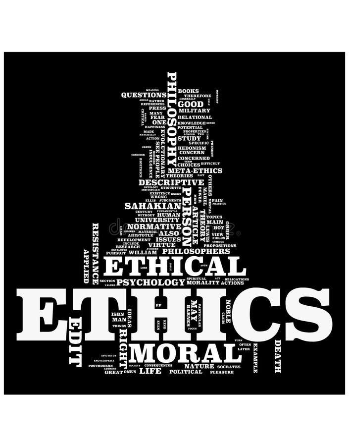 Nuvem da palavra das éticas ilustração royalty free