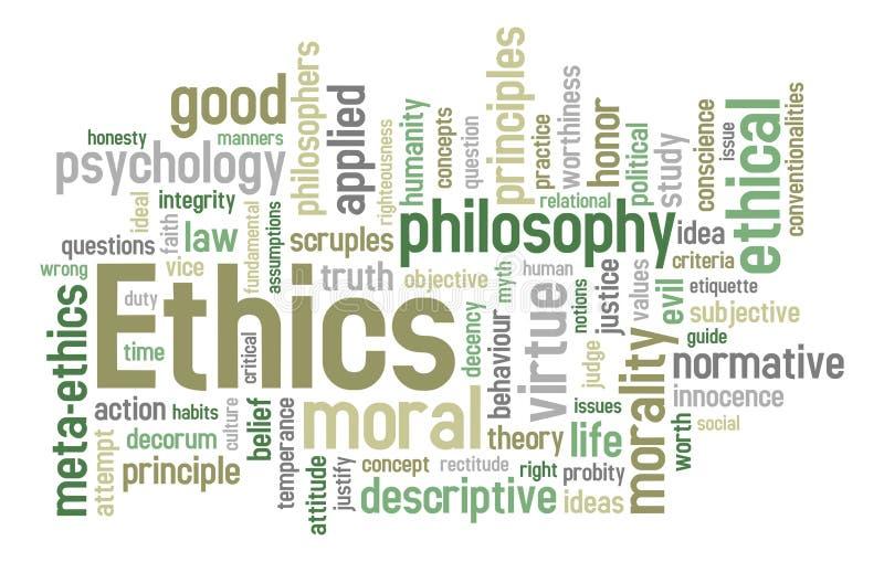 Nuvem da palavra das éticas ilustração do vetor