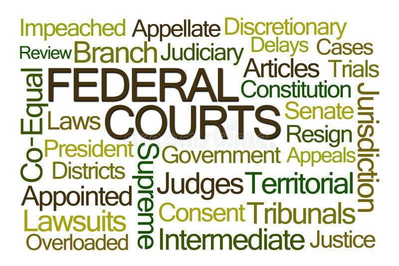 Nuvem da palavra das cortes federais ilustração stock