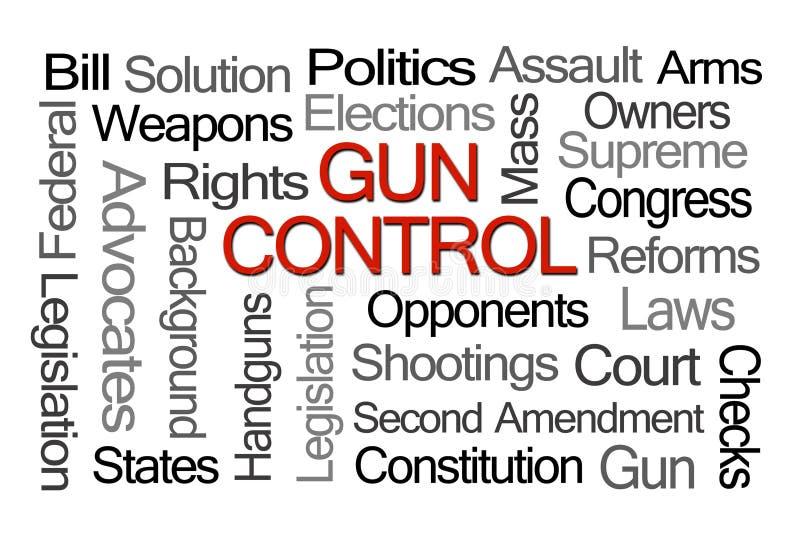 Nuvem da palavra das leis de controlo de armas ilustração do vetor