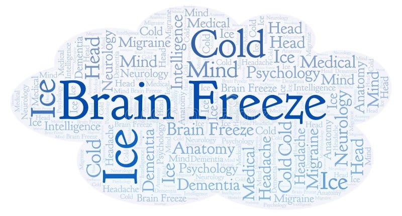 Nuvem da palavra de Brain Freeze ilustração stock