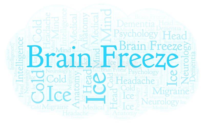 Nuvem da palavra de Brain Freeze ilustração do vetor