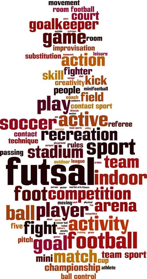 Nuvem da palavra de Futsal ilustração royalty free
