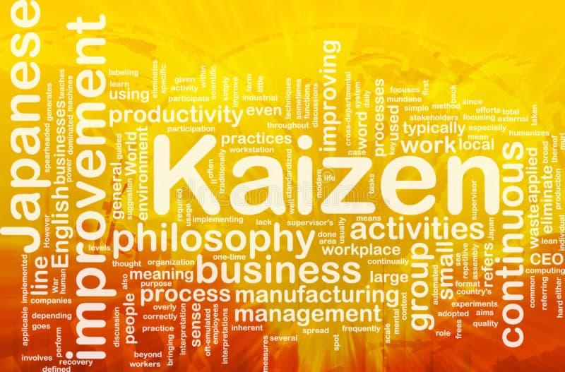 Nuvem da palavra de Kaizen ilustração stock