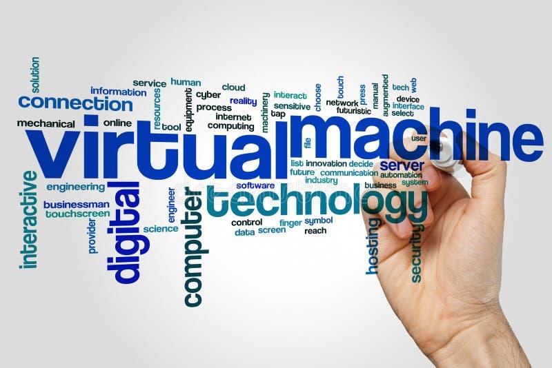 Nuvem da palavra de máquina virtual fotografia de stock