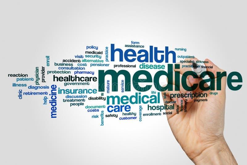 Nuvem da palavra de Medicare foto de stock