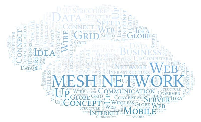 Nuvem da palavra de Mesh Network ilustração stock