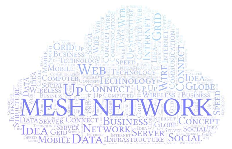 Nuvem da palavra de Mesh Network ilustração do vetor