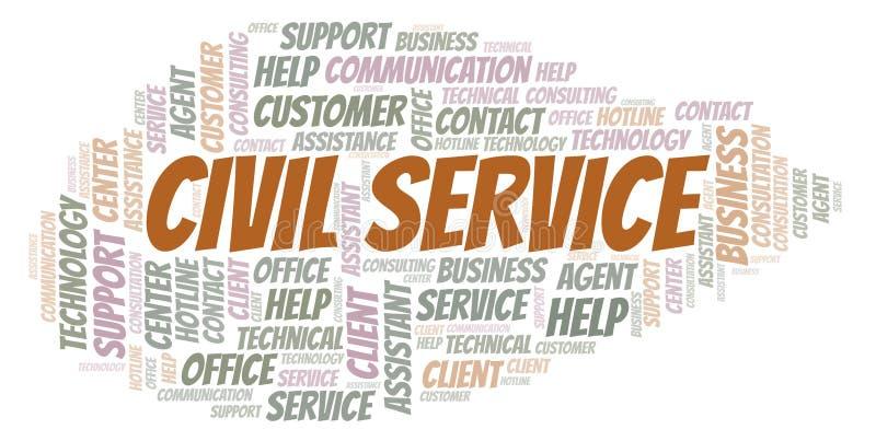 Nuvem da palavra de serviço civil ilustração royalty free