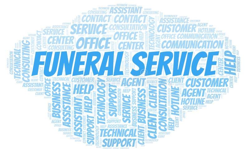 Nuvem da palavra de serviço fúnebre ilustração royalty free