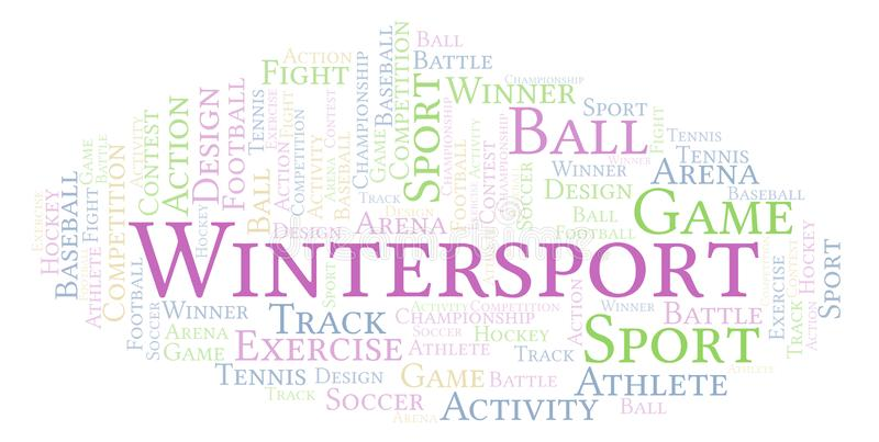 Nuvem da palavra de Wintersport ilustração royalty free