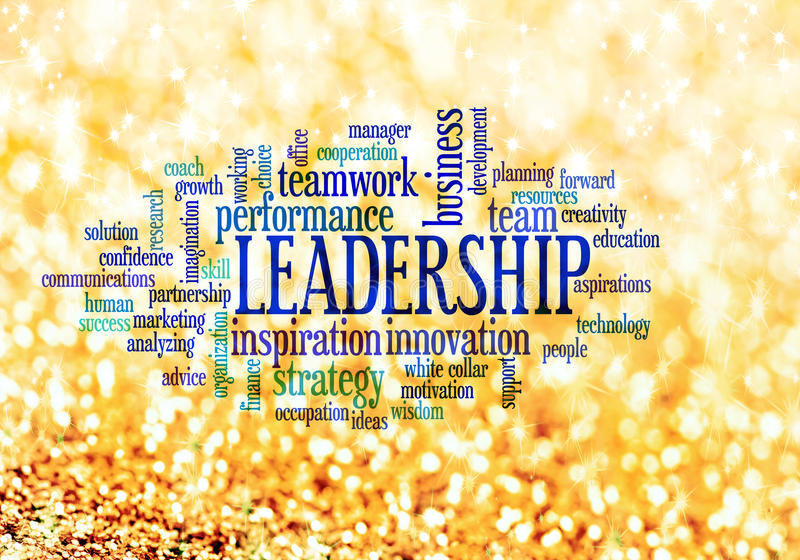 Nuvem da palavra do conceito da liderança ilustração do vetor
