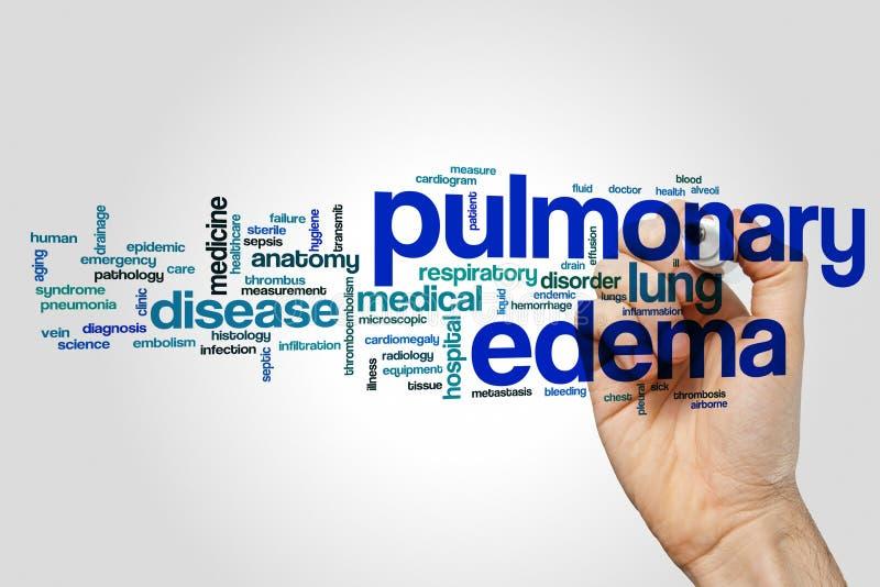 Nuvem da palavra do edema pulmonar foto de stock royalty free