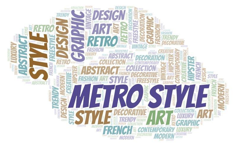 Nuvem da palavra do estilo do metro ilustração royalty free