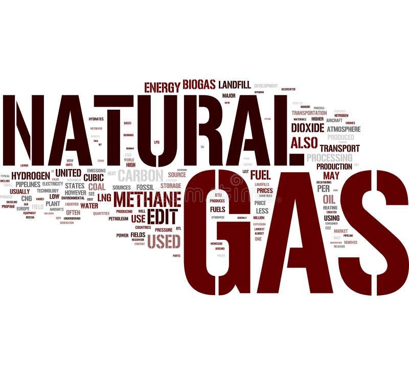 Nuvem da palavra do gás natural ilustração royalty free