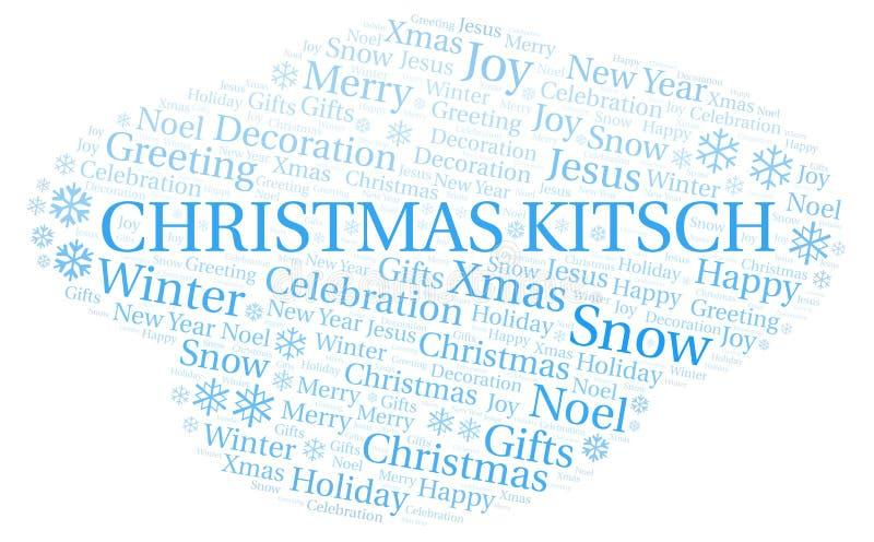 Nuvem da palavra do kitsch do Natal ilustração stock