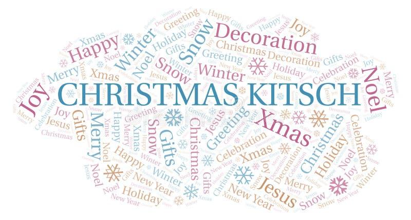 Nuvem da palavra do kitsch do Natal ilustração do vetor