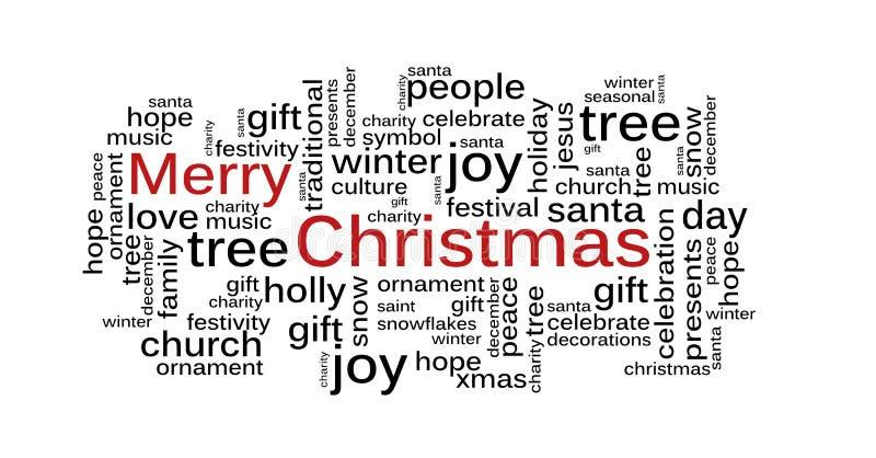 Nuvem da palavra do Natal ilustração do vetor