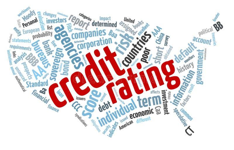 Nuvem da palavra do rating de crédito ilustração royalty free