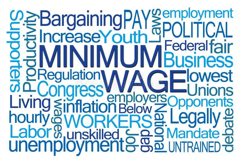 Nuvem da palavra do salário mínimo ilustração do vetor