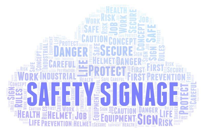 Nuvem da palavra do Signage da segurança ilustração stock