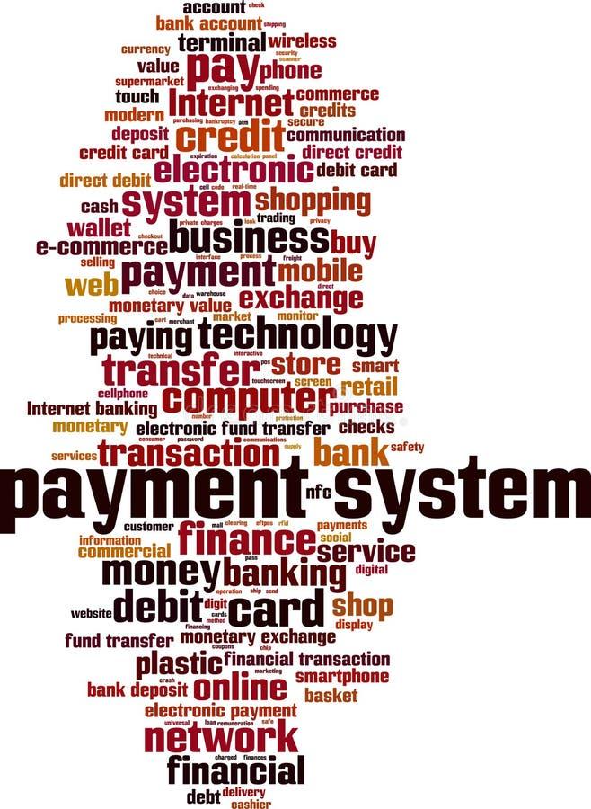 Nuvem da palavra do sistema de pagamento ilustração stock