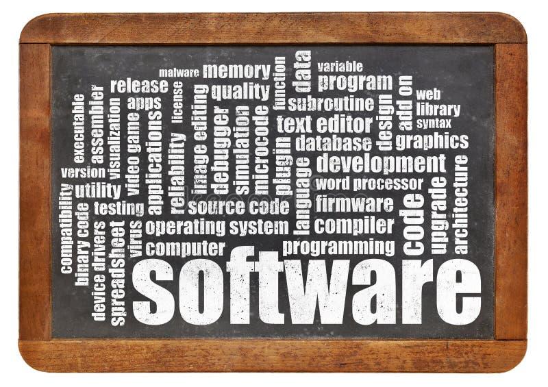 Nuvem da palavra do software imagem de stock royalty free
