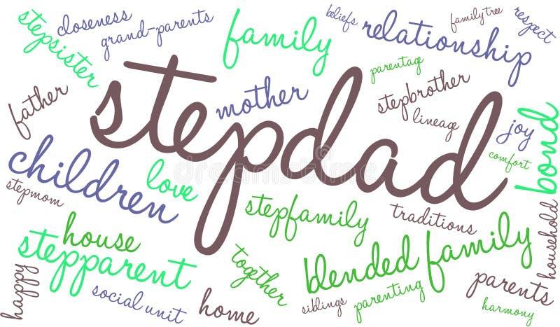 Nuvem da palavra do Stepdad ilustração stock