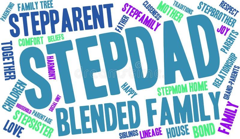 Nuvem da palavra do Stepdad ilustração do vetor
