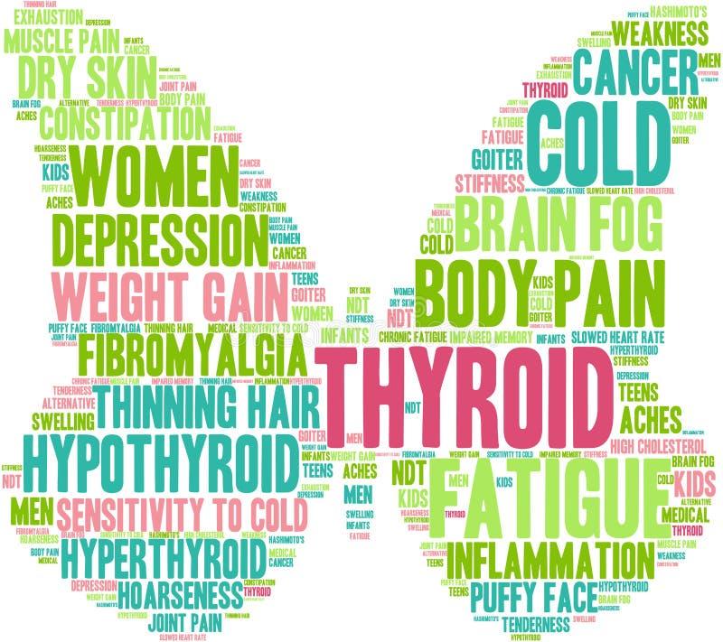 Nuvem da palavra do tiroide ilustração royalty free