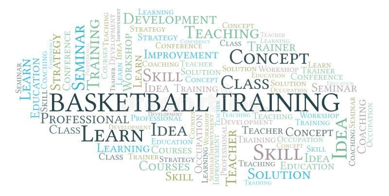 Nuvem da palavra do treinamento do basquetebol ilustração royalty free