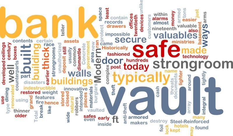 Nuvem da palavra do vault de banco ilustração stock