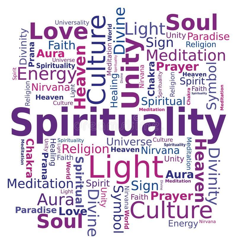 Nuvem da palavra - espiritualidade ilustração royalty free