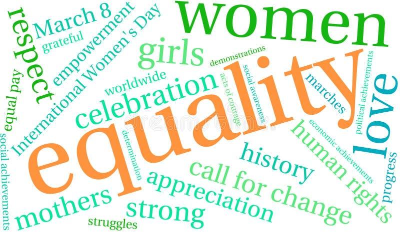 Nuvem da palavra da igualdade ilustração do vetor