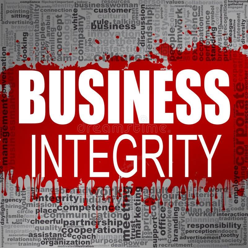Nuvem da palavra da integridade do negócio ilustração stock