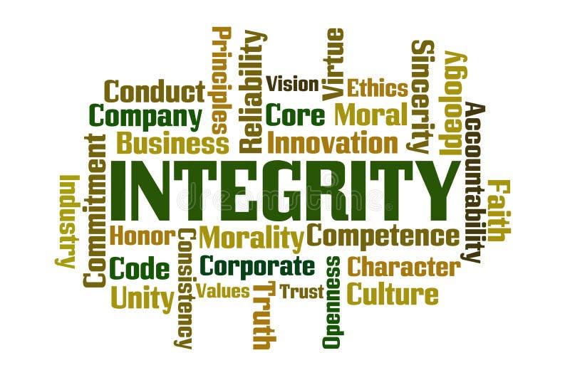 Nuvem da palavra da integridade ilustração do vetor