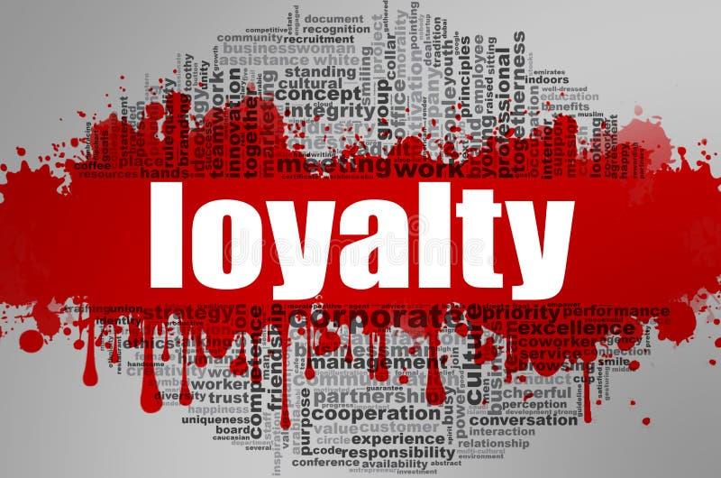 Nuvem da palavra da lealdade ilustração royalty free