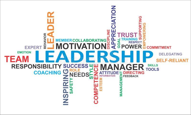 Nuvem da palavra - liderança ilustração royalty free