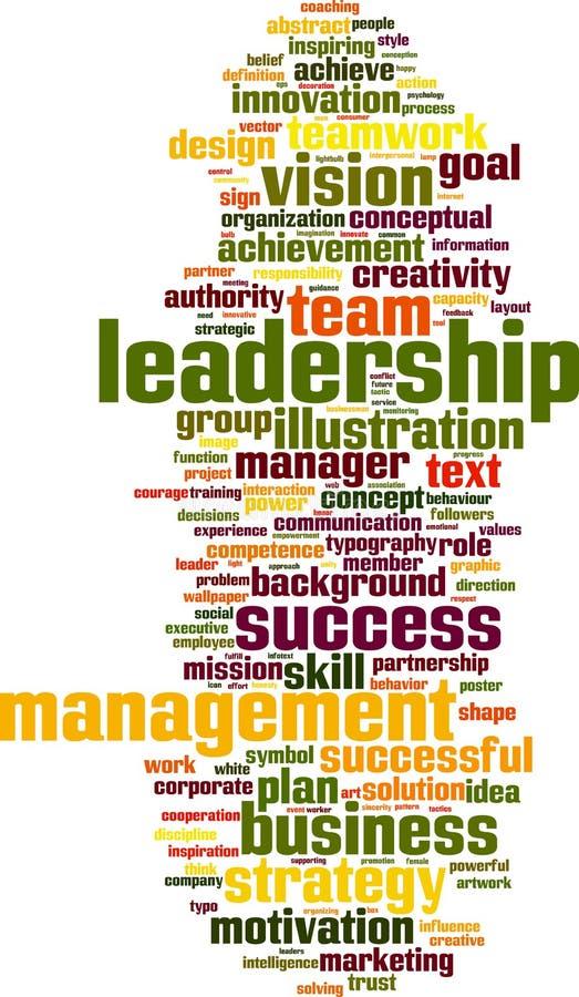 Nuvem da palavra da lideran?a ilustração do vetor