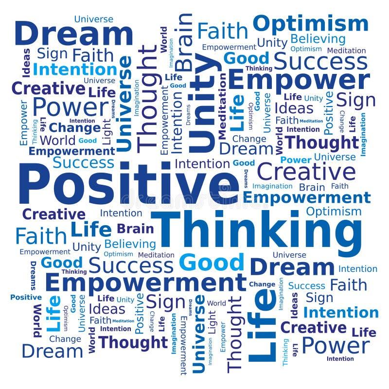 Nuvem da palavra - pensamento positivo ilustração do vetor