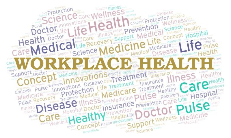 Nuvem da palavra da saúde do local de trabalho ilustração stock
