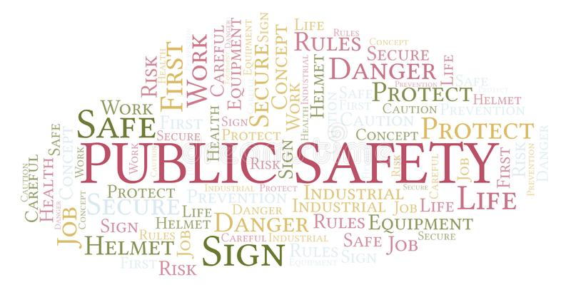 Nuvem da palavra da segurança pública fotografia de stock royalty free
