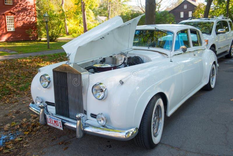Nuvem da prata de Rolls royce em Massachusetts, EUA imagem de stock royalty free