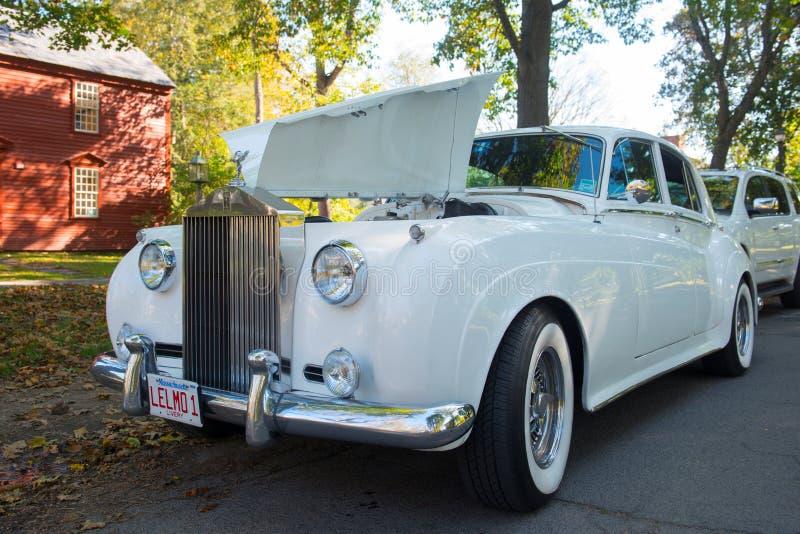 Nuvem da prata de Rolls royce em Massachusetts, EUA imagens de stock royalty free