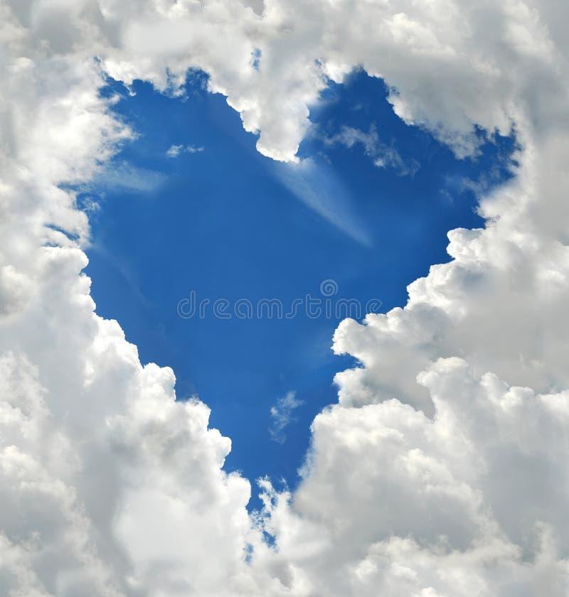Nuvem dada forma coração fotos de stock royalty free