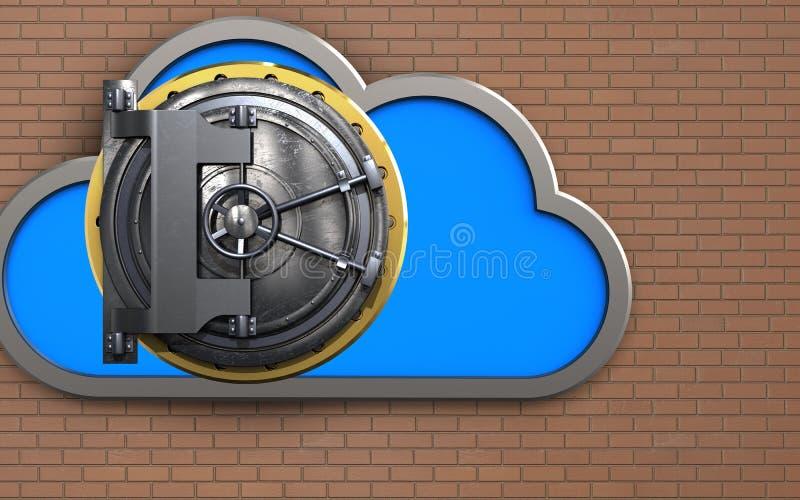 nuvem de aço da porta 3d ilustração do vetor